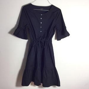Ann Taylor Short  Ruffled Hem Tie Waist Dress